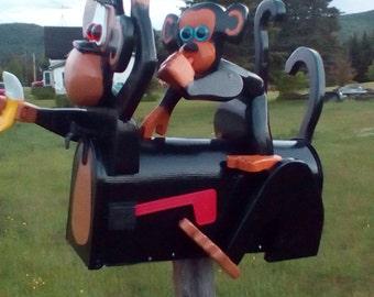 Monkey mail box and baby mailbox