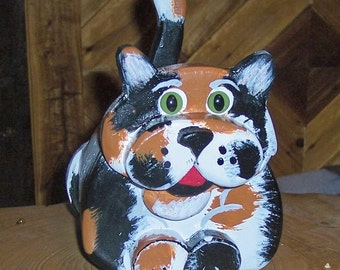 Calico cat musical coin bank