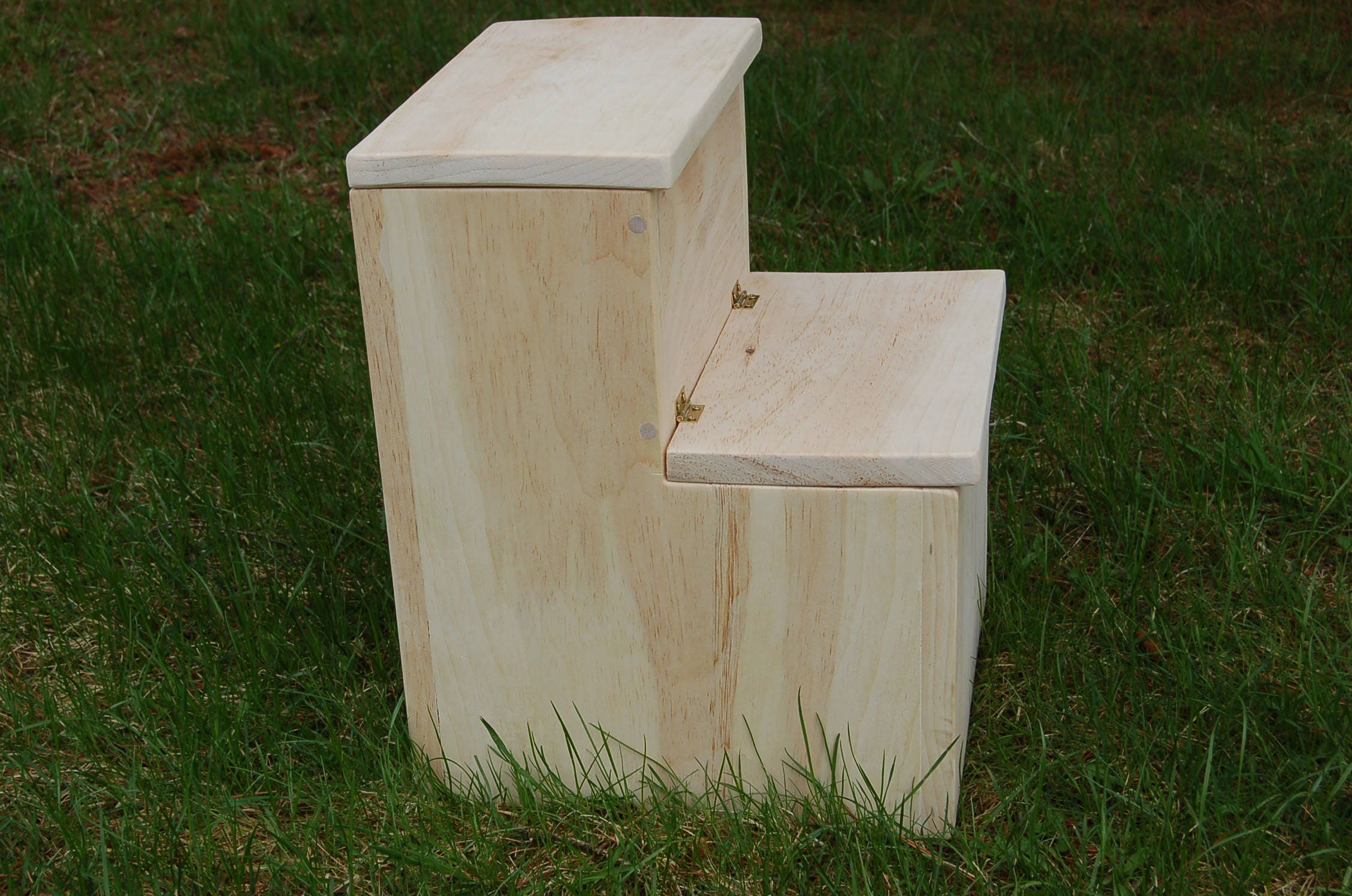 stained child step stool child chair storage step stool etsy. Black Bedroom Furniture Sets. Home Design Ideas