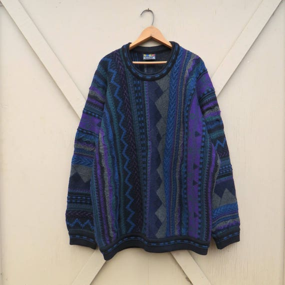Authentic Coogi vintage Abstract Patterned Wool Sw
