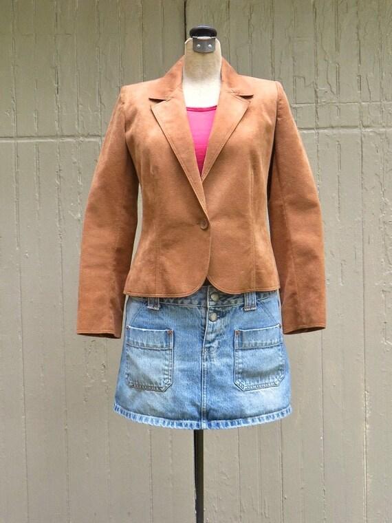 70s/80s Lilli Ann vintage Brown Ultrasuede Blazer