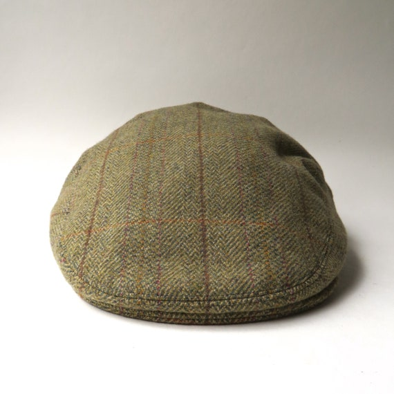 7afdb057 60s/70s Bladen vintage Olive Green Tweed Wool Newsboy Cap / | Etsy