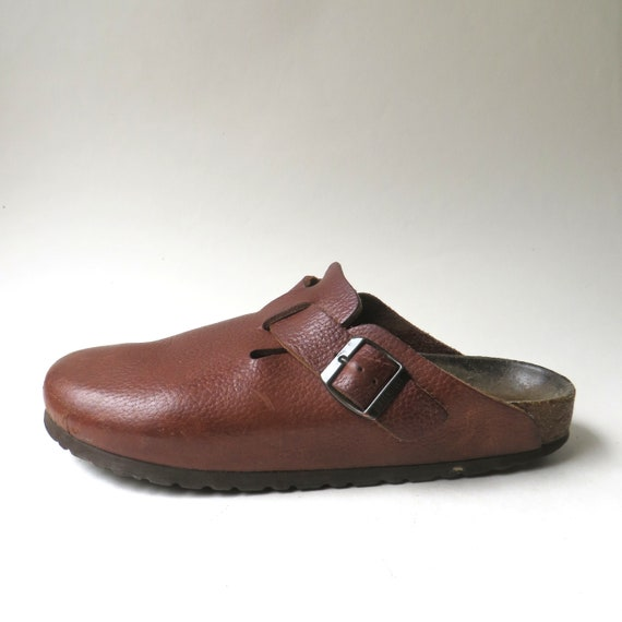 Birkenstock vintage Papillio Russet Brown Leather Boston Clog made in Germany Boho Hippie Indie Hipster Festivals