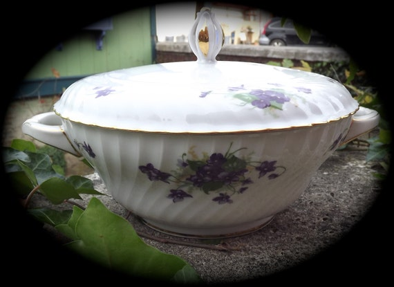 sale royal tettau china violet with gold trim covered etsy
