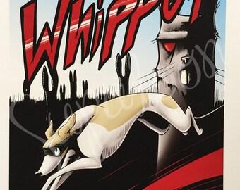 WHIPPET Comic Giclée Print