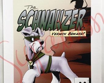 SCHNAUZER Comic Giclée Print