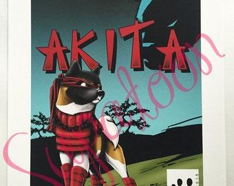 AKITA Comic Giclée Print