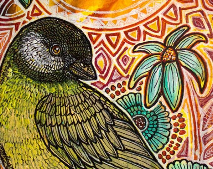 Original Garden Bird Painting by Artist Lynnette Shelley