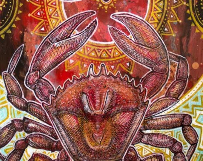 Dancing Crabs Marine Animal Art Print by Lynnette Shelley