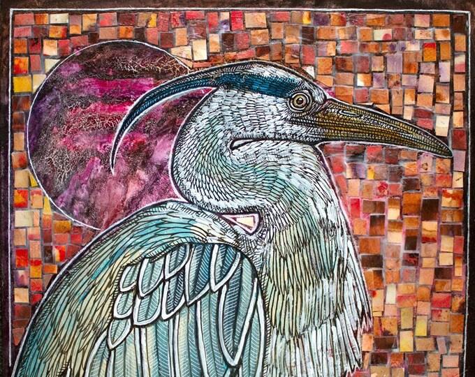 Original Great Blue Heron Artwork by Lynnette Shelley