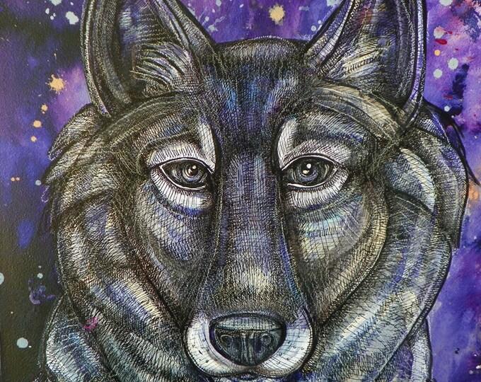 Gray Wolf Art Print by Lynnette Shelley