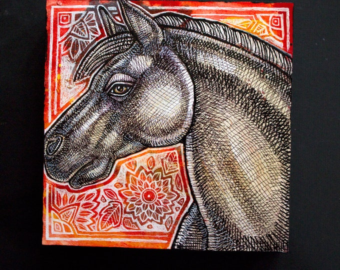 Original Painted Pony Painting by Lynnette Shelley