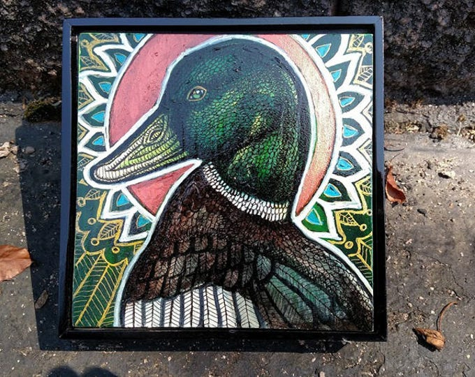 Original Mallard Duck Painting by Lynnette Shelley