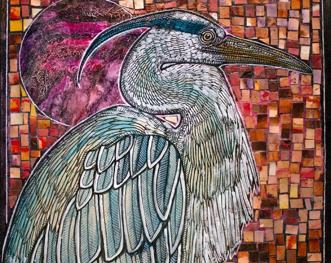 Original Great Blue Heron Artwork by Lynnette Shelley