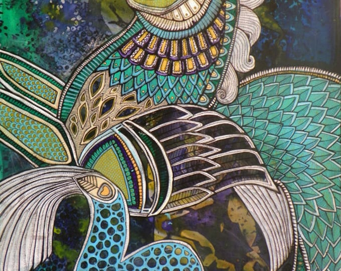 Hippocampus / Sea Horse Fantasy Art Print by Lynnette Shelley
