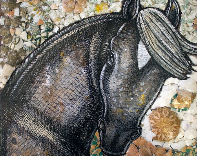 Horse Mosaic Art Painting by Artist Lynnette Shelley