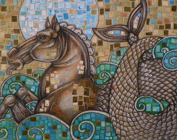 Hippocamp / Sea Horse / Fantasy Art Print by Lynnette Shelley