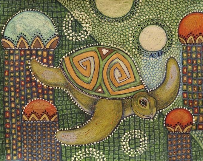 Sea Turtle Honu Animal Art Print by Lynnette Shelley