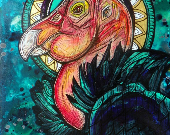 """Original """"The Condor King"""" Painting by Lynnette Shelley"""
