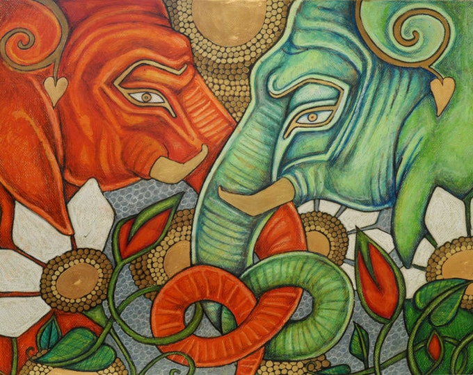 Elephant Animal Art Print - Limited Edition Print
