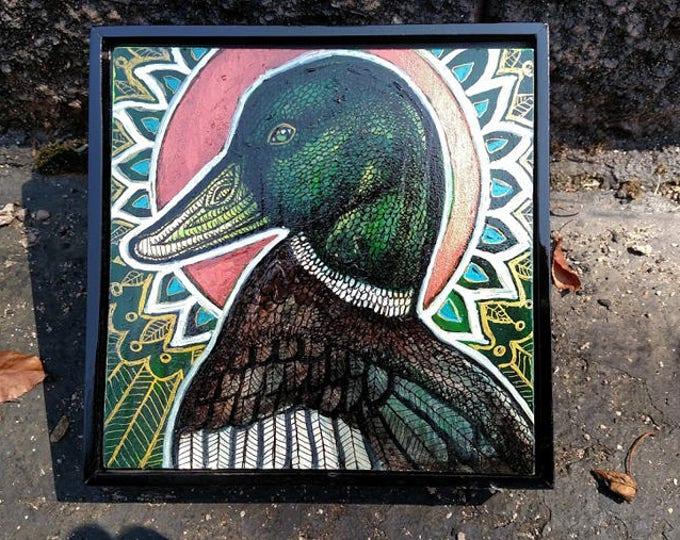 Original Mallard Duck Painting by Lynnette Shelley