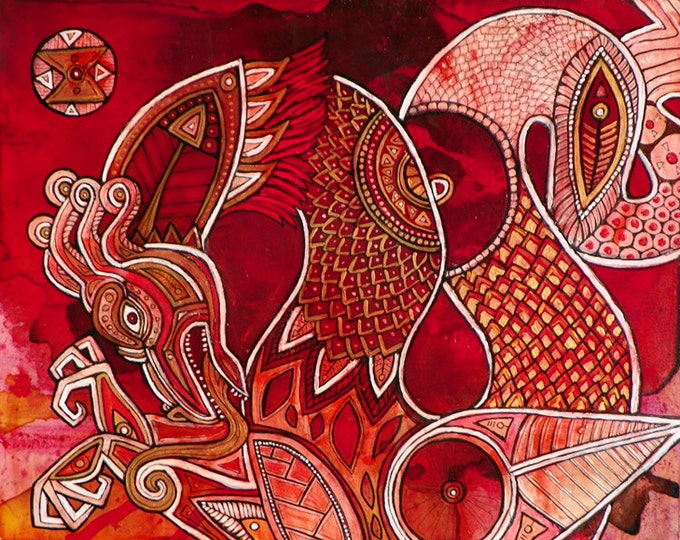 Original Dragon Painting by Lynnette Shelley