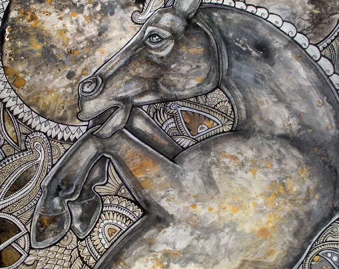 Wild Heart Horse Art Print by Lynnette Shelley