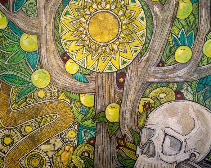 Tree of Life and Skull Art Print by Lynnette Shelley