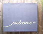 50 off - Welcome Floor Mat  27in x 32in