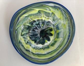 Wall Art Glass Blown Platter 2189