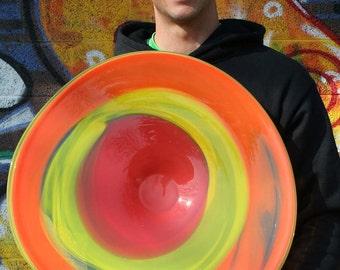 Spun Gallery Hand Blown Glass Platter 2012-53