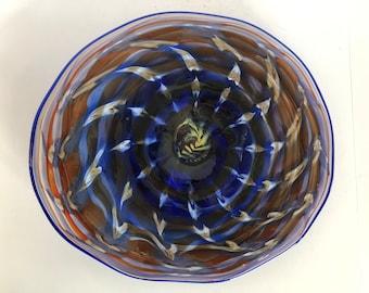 Wall Art Glass Blown Platter 2200