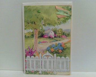 Cottage Birthday Card Repurposed