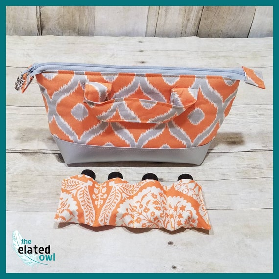 Essential Oil Storage, Essential Oil Case, Essential Oil Bottles, Essential Oil Travel Case, Storage Case, Zippered Pouch, Aromatherapy