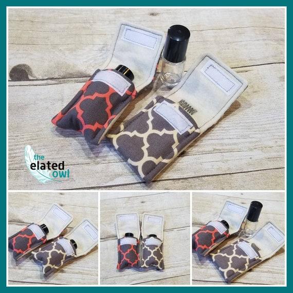 Essential oil keychain, essential oil roller bottle, essential oil travel, aromatherapy keychain, aromatherapy key fob, travel pouch,