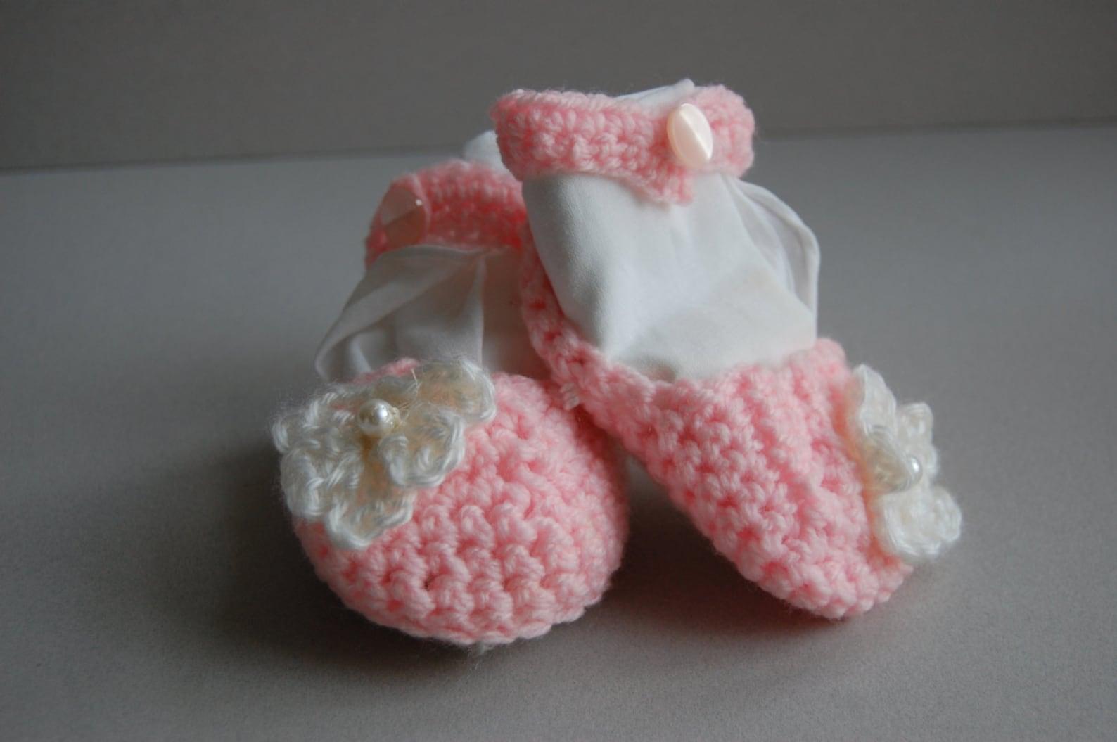 crochet ballet slippers ~ ready to ship