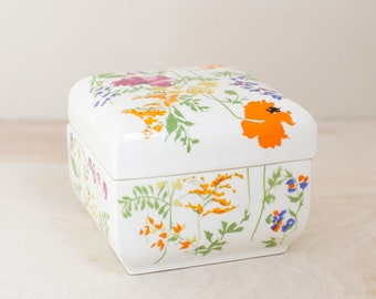 Heart Trinket Box Floral Ceramic Box Made in Japan exclusively for Elizabeth Arden ELIZABETH ARDEN BOX Heart Shaped Arden Jewelry Box