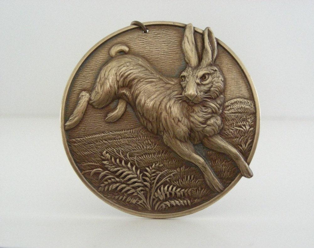 Pendentif lapin - grand Brass Brass Brass Stamping - victorien - bricolage Collier pendentif f71893