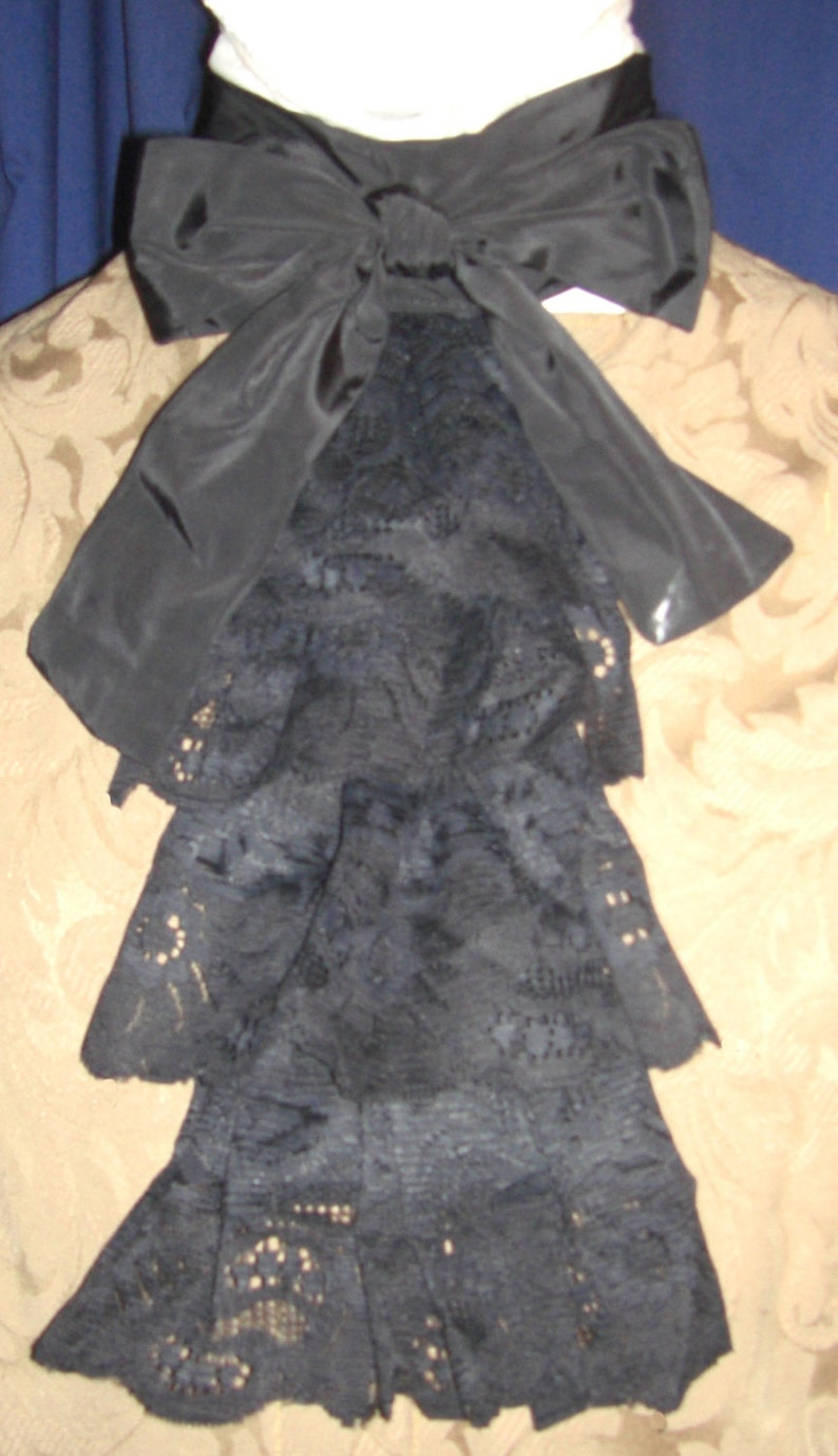 ca666fd54d7629 Extra Fancy Lace Black Lace Tie Jabot/Cravat | Etsy