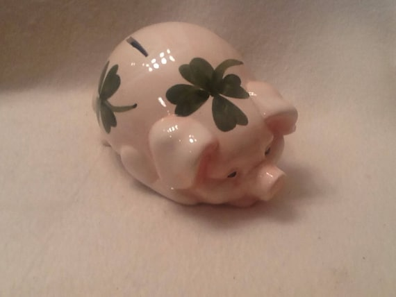 Ceramic Piggy Bank Pink Pig Coin Bank Decor Toddler Room Decor Etsy