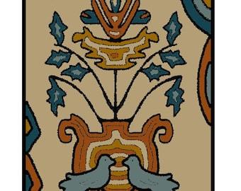 Rug Hooking or Neelde Punch Paper Pattern