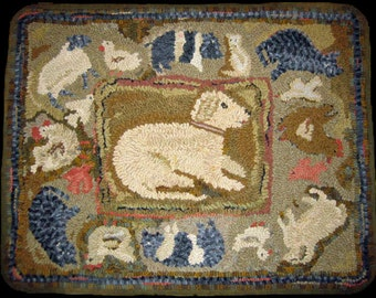 Hooked Rug Pattern Shep's World Antique Adaption PDF Download