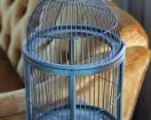 Vintage blue bird cage