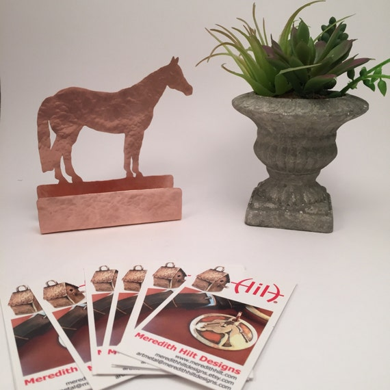 Horse business card holder business card stand horse card etsy image 0 colourmoves