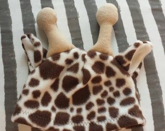 Fleece Giraffe Hat