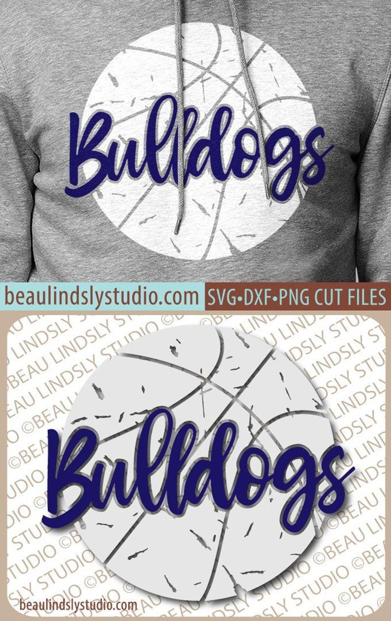 Bulldog Basketball SVG File Grunge Basketball SVG DIY image 0