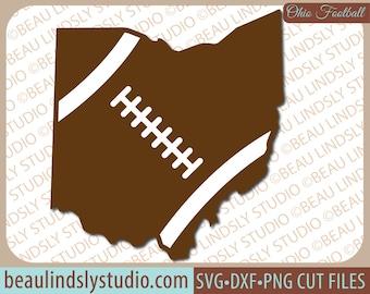 Ohio State Football SVG, Ohio Football SVG, Football Mom SVG, Ohio svg, svg File For Silhouette, svg File For Cricut, Football Sister