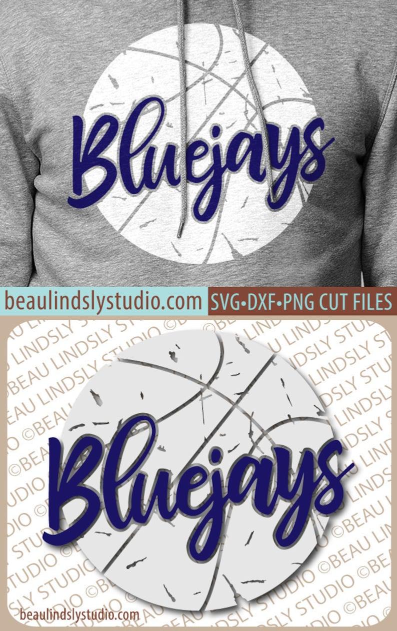 Bluejays Basketball SVG File Grunge Bluejay SVG DIY image 0