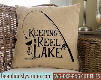 Fishing SVG, Lake Quote SVG Cutting File, Fishing Pun Clip Art, Fishing Reel SVG, Lake svg, Silhouette svg File Format, Cricut File Format