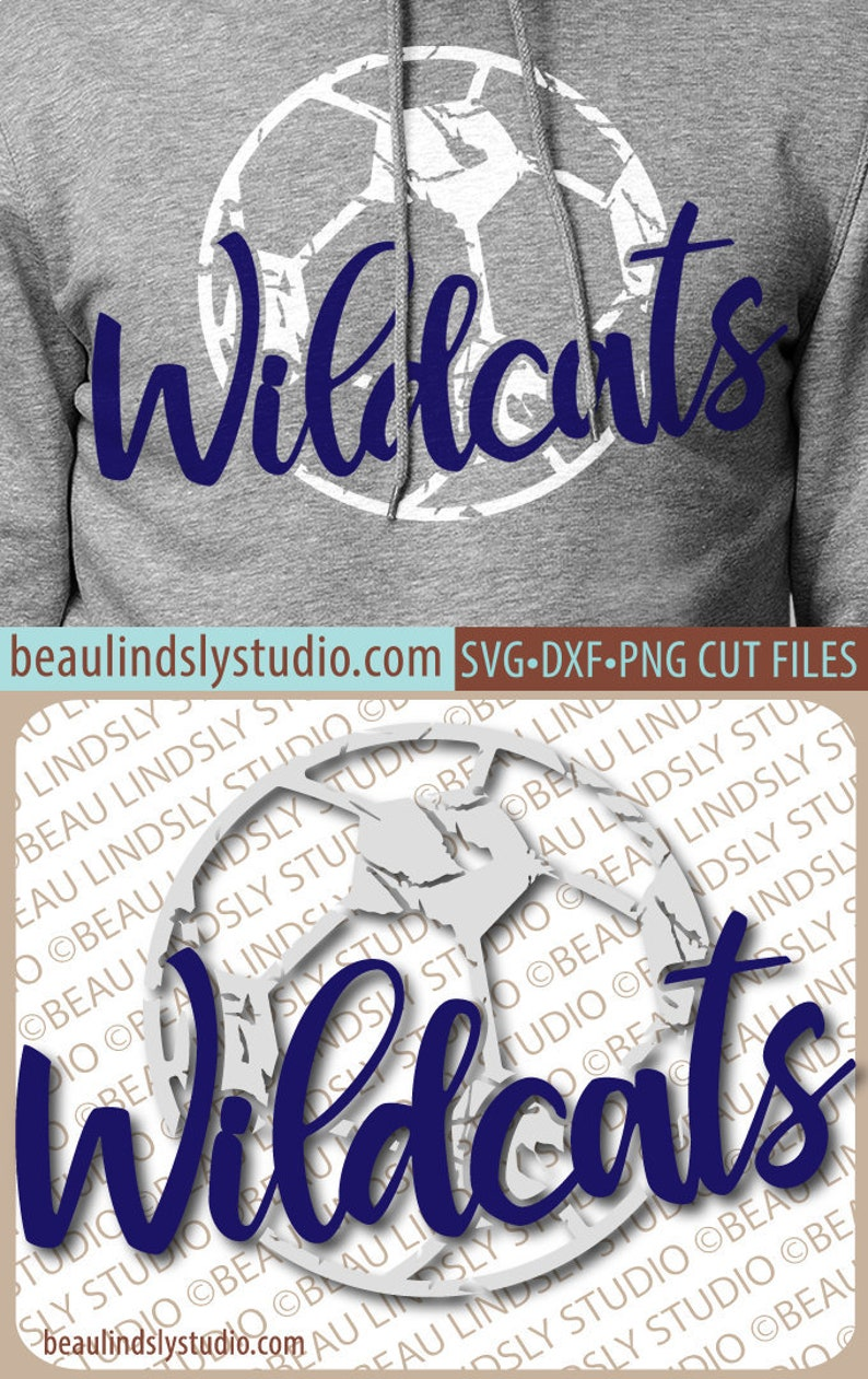 Wildcats Soccer SVG File Grunge Wildcat SVG DIY Soccer Mom image 0